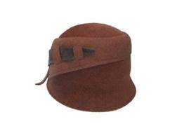 Mayser Exclusiv Damen Hut Glocke 1292591-1515-1097 rost brasil -