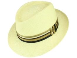 Mayser Ferry Panamahut Strohhut Trilby Hut mit UV-Schutz aus Stroh - natur 55 -