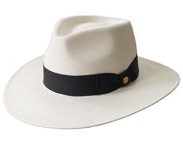 MAYSER Herrenhut Panamahut Strohhut UV-Schutz Nizza natur 58 -