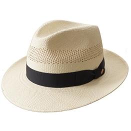 MAYSER Imperia Herrenhut Panamahut Strohhut Sommerhut Hut - Exklusiver Herrenhut für den Sommer 58 -
