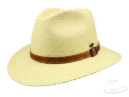 Mayser Joan Panamahut Traveller Hut wasserabweisend mit UV-Schutz aus Stroh - natur 62 -