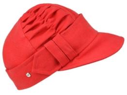 Mayser Larino Schute Ballonmütze aus Leinen - rot -