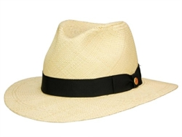 Mayser Menton klassischer Panama Strohhut - natur 63 -
