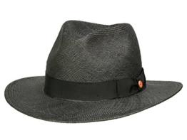 Mayser Menton Panamahut Traveller aus Stroh - schwarz 58 -