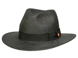 Mayser Menton Panamahut Traveller aus Stroh - schwarz 57 -