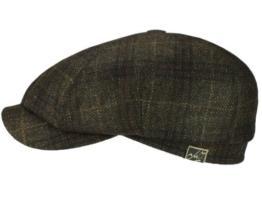 Mayser Nelson Ballonmütze Schirmmütze aus Wolle - braun 62 -