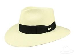Mayser Nizza Panamahut Strohhut Traveller Hut mit UV-Schutz aus Panamastroh - beige 57 -