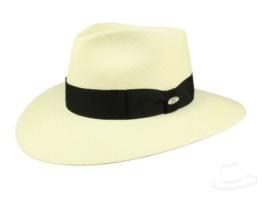 Mayser Nizza Panamahut Strohhut Traveller Hut mit UV-Schutz aus Panamastroh - beige 60 -