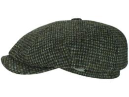 Mayser Seven Ballonmütze Schirmmütze aus Wolle - grün 62 -