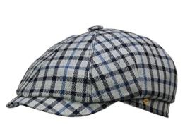 Mayser Seven Ballonmütze Sportmütze aus Seide und Schurwolle - blau 62 -