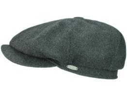 Mayser Seven Premium Ballonmütze Schirmmütze aus Wolle - grau 55 -