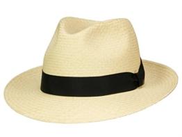 Mayser Torino Panamahut Panama Hut Strohhut Fedora aus Stroh - beige 56 -