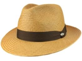 Mayser Torino Panamahut Strohhut Fedora aus Stroh - braun 60 -