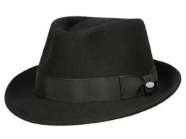 Mayser Troy Trilby Hut aus Wollfilz - schwarz 58 -