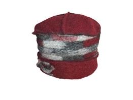 Mc- Burn Damen Walkmütze, gefüttert mit Fleece 66913-1212 bordeaux- grau -
