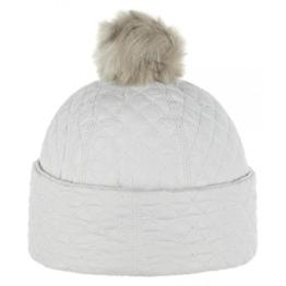 McBURN Cimarron Mütze für Damen Steppmützen Beanie mit Futter Herbst Winter (One Size - cremeweiß) -