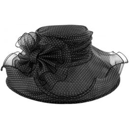 McBURN Jenny Damen Anlasshut für Damen Hochzeitshut Festhut Frühjahr Sommer (One Size - schwarz) -