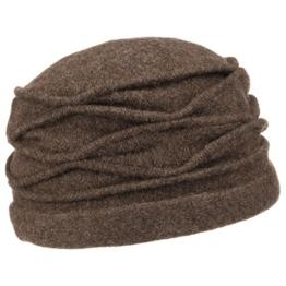 McBURN Kamita Walkmütze Wintermütze Damenmütze für Damen Walkhut Damenmütze Herbst Winter (One Size - braun) -
