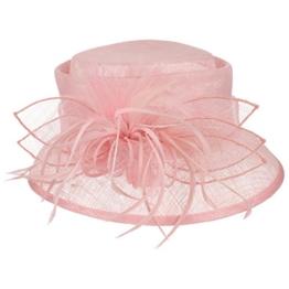 McBURN Mareana Cloche Glockenhut für Damen Kopfschmuck Haarschmuck Winter Sommer (One Size - rosa) -