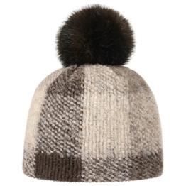 McBURN Valima Bommelmütze Damenmütze Wintermütze Mütze Pudelmütze Wollmütze für Damen Strickmütze Wintermütze mit Futter, mit Futter Herbst Winter (One Size - braun) -