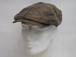 McCook Vintage Ledercap by Stetson (L/58-59 - braun) -