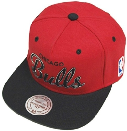 Mitchell & Ness Chicago Bulls Herren Snapback Cap Rot Schwarz -