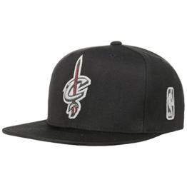 Mitchell & Ness Double Reflect Cavs Cap Cleveland Cavaliers Flat Brim Basecap Baseballcap Kappe Cap Basecap (One Size - schwarz) -