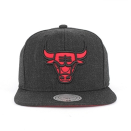 Mitchell & Ness Heather Snapback Cap CHICAGO BULLS Schwarz, Size:ONE SIZE -