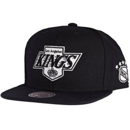 Mitchell & Ness Herren Caps / Snapback Cap Black & White LA Kings schwarz Verstellbar -