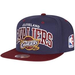 Mitchell & Ness Herren Caps / Snapback Cap NBA Team Arch Cleveland Cavaliers blau Verstellbar -