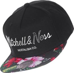 Mitchell & Ness Herren Caps / Snapback Cap Tropical Visor Sonic schwarz Verstellbar -