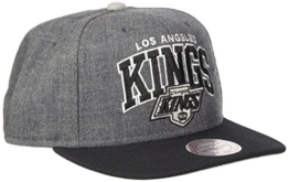Mitchell & Ness Los Angeles Kings Snapback Cap Dunkelgrau Schwarz -