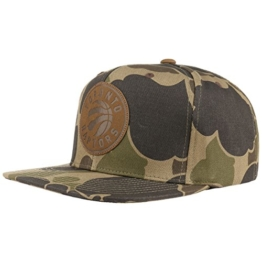 Mitchell & Ness Lux Camo Raptors Cap Strapback Basecap Baseballcap Toronto NBA Kappe Flat Brim Cap Basecap (One Size - camouflage) -