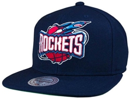 Mitchell & Ness NBA Houston Rockets Wool Solid Snapback Cap -