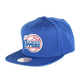 Mitchell & Ness NBA Los Angeles Clippers Wool Solid NZ979 Snapback Cap -