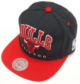 Mitchell & Ness Nuarc Chicago Bulls Snapback Cap Schwarz Rot -