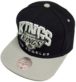 Mitchell & Ness Nuarc Los Angeles Kings Snapback Cap Schwarz Grau -