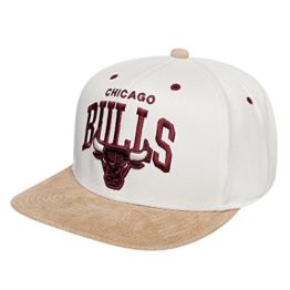 Mitchell & Ness Perfarc Snapback - CHICAGO BULLS - White-Brown, Size:ONE SIZE -