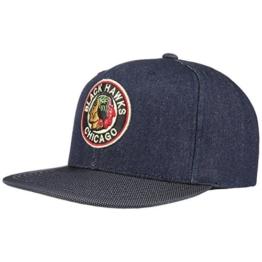 Mitchell & Ness Raw Denim Chicago Cap Blackhawks NHL Kappe Basecap Baseballcap Snapback Flat Brim Cap Basecap (One Size - denim) -