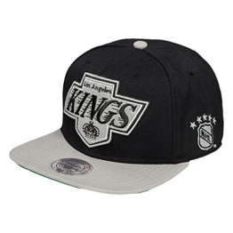 Mitchell & Ness XL2TSNP Snapback LA KINGS Black Grey, Size:ONE SIZE -