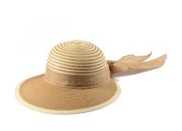 Miuno® Damen Sonnenhut Partyhut Stroh Hut Schleife H51010 (Camel) -