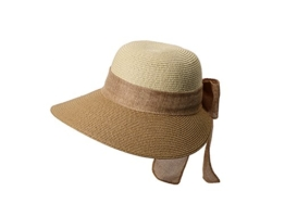 Miuno® Damen Sonnenhut Partyhut Stroh Hut Schleife H51055 (camel) -