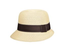 Miuno® Damen Sonnenhut Partyhut Stroh Hut Glocke H51059 (Beige) -