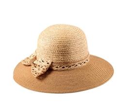 Miuno® Damen Sonnenhut Partyhut Stroh Hut H51008 (Camel) -