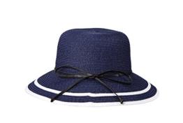 Miuno® Damen Sonnenhut Partyhut Stroh Hut Schleife Glocke H51061 (Blau) -