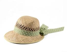 Miuno® Damen Strohhut Sommer Hut aus Natur Stroh H51013 -