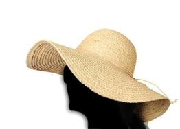 Miuno® Damen Strohhut Sommer Hut Schlapphut aus Raffia Stroh H51014 -