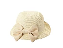 Miuno® Damen weich Sonnenhut Partyhut Stroh Hut Schleife Glocke H51063 (Beige) -