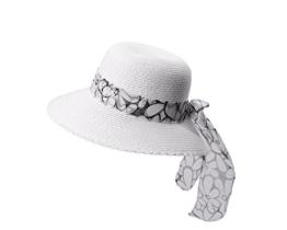 Miuno® Damen weich Sonnenhut Partyhut Stroh Hut Schleife H51066 (schwarz) -