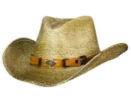 MONTERREY BAY BRAUN Cowboyhut Strohhut von Stetson - M/56-57 -